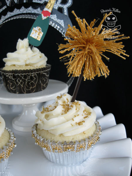 New Year's Eve Champagne Cupcakes | Shane's Killer Cupcakes