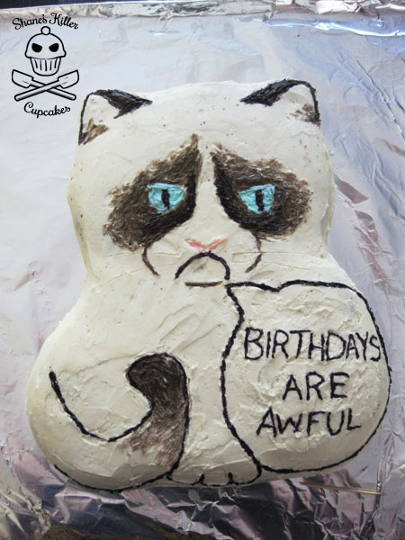 Grumpy Cat Says Birthdays Are Awful Shanes Killer Cupcakes
