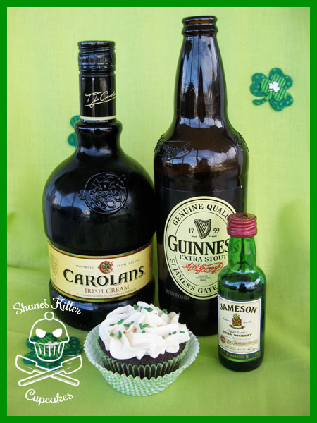 Chocolate Stout Cupcakes with Whiskey Ganache Filling and Irish Cream ...