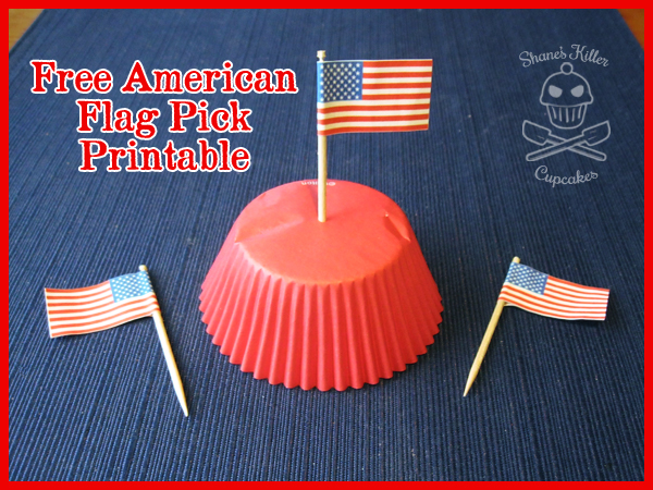 image regarding Free Printable American Flag referred to as 4th of July Flag Cupcake Selections How-towards