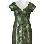 4. Floral lurex jacquard sheath dress