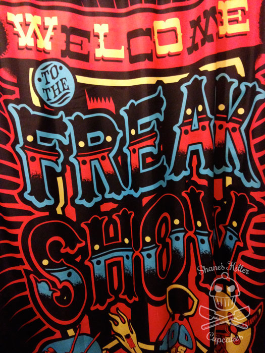 Freak Show shower curtain